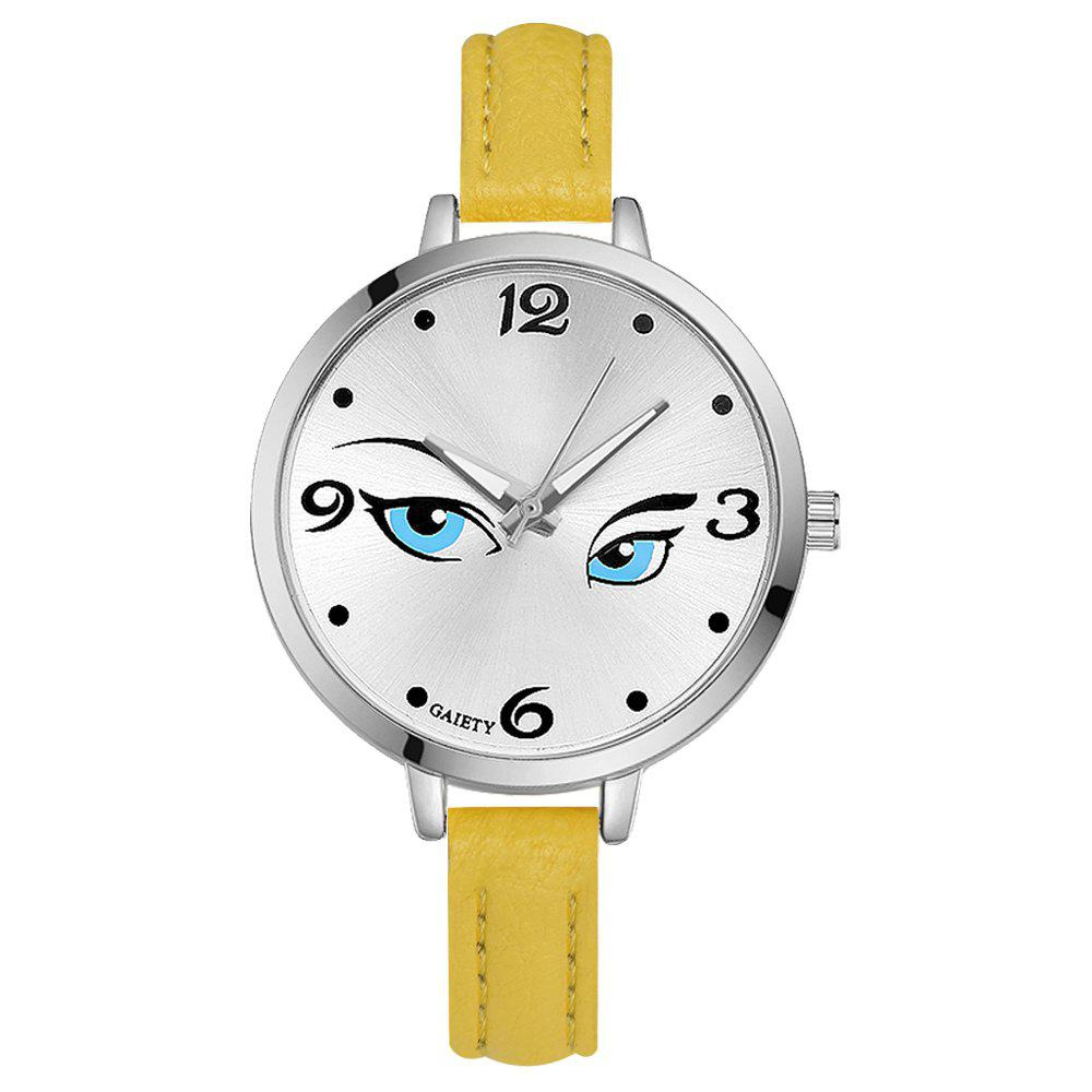 Affordable GAIETY G302 Fashion Silver Leather Watch