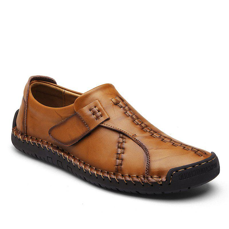 Shops Autumn Winter Wear Resisting Genuine Leather Slip On Men Casual Shoes High Quality Comfortable Loafers