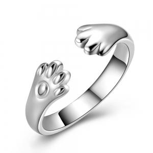 925 Silver adorable Cat claw wrap Ring -
