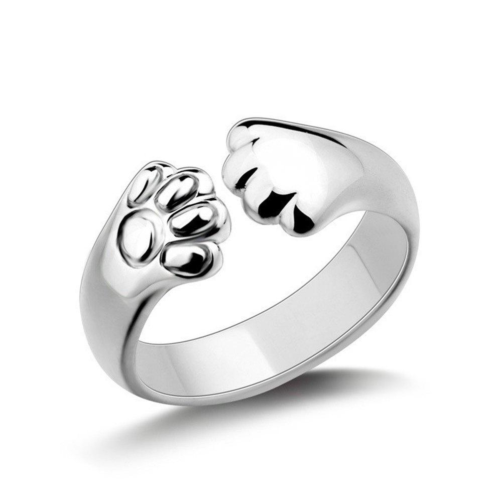 Fashion 925 Silver adorable Cat claw wrap Ring
