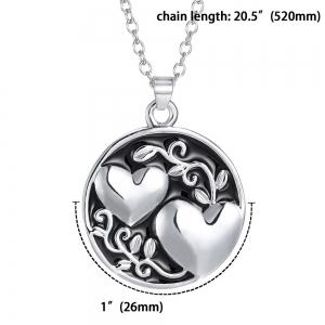 Sister Tree Two-sided Alloy Pendant Necklace Love Family Gift -