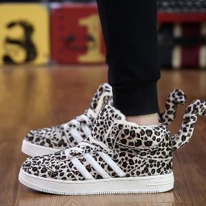 New Leopard Winter High Plus Velvet Plus Cotton Thick Warm Cotton Shoes -