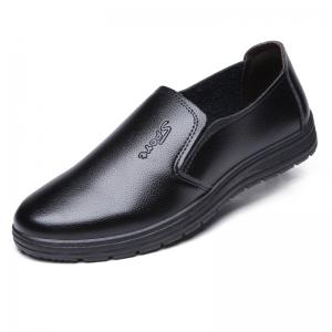 Men's Dress Shoes Solid Color Slip On Style Round Toe Shoes -