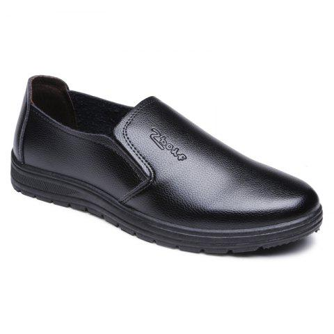 New Men's Dress Shoes Solid Color Slip On Style Round Toe Shoes