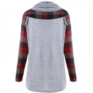 In 2018  The New Checkered Long Sleeve Round Neck Sweatshirt -