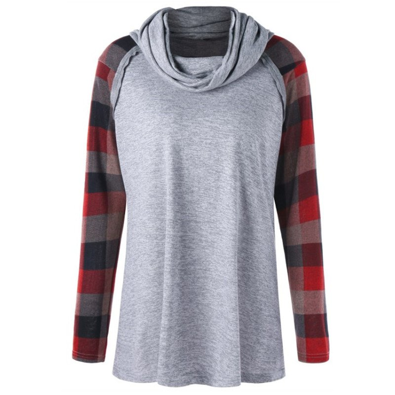 Shop In 2018  The New Checkered Long Sleeve Round Neck Sweatshirt