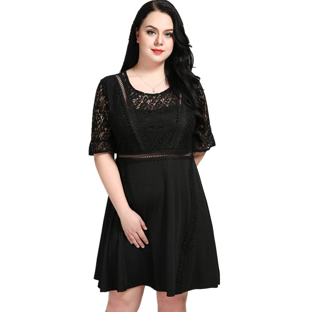 9fd4f5221ce Best Cute Ann Women s Premium Lace Insert Plus Size Formal Midi Party Dress