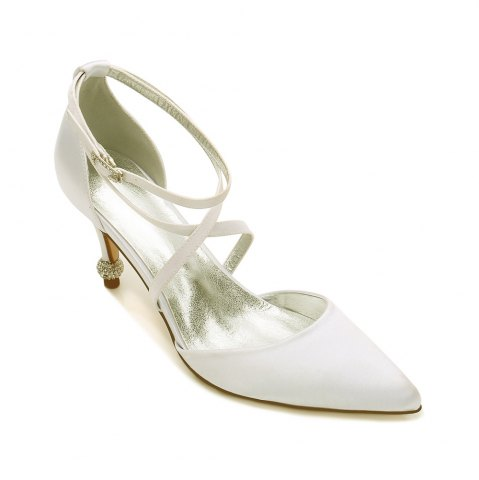 17767-2 Stiletto Heel Wedding Shoes Chaussures pour femmes