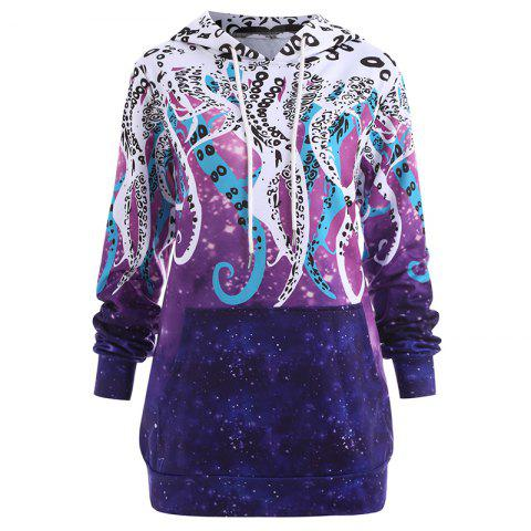 Chic Women's Fashion Plus Size Printed Long-Sleeved Hoodie