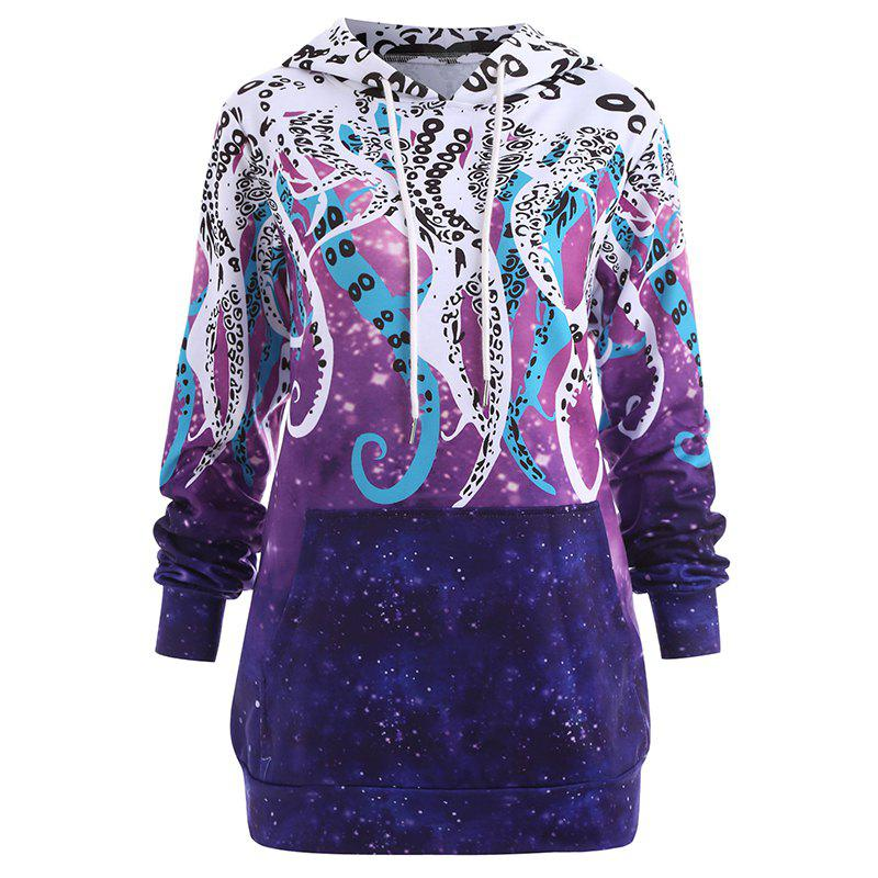 Fashion Women's Fashion Plus Size Printed Long-Sleeved Hoodie