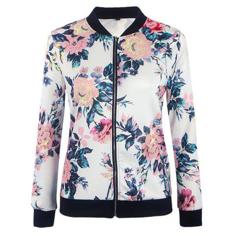 Online Women's Fashion Wild Printing Long-Sleeved Slim Jacket