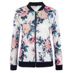Women's Fashion Wild Printing Long-Sleeved Slim Jacket -