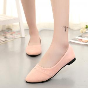 The Shallow Mouth Pointed Women's Shoes With Flat Sole -