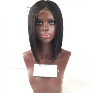 Short Bob Wig Straight Human Hair Lace Wig Glueless Lace Front Wig For Black Women -