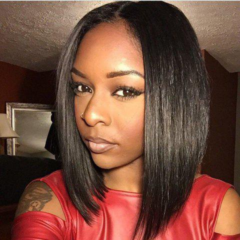 Unique Short Bob Wig Straight Human Hair Lace Wig Glueless Lace Front Wig For Black Women