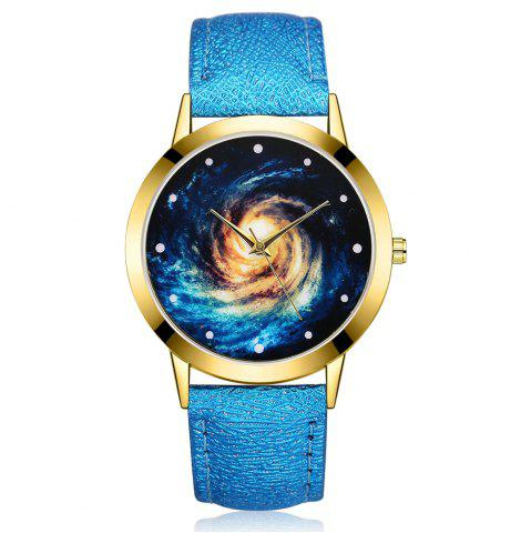 Affordable GAIETY G378 Women Starry Sky Dial Leather Band Quartz Watch