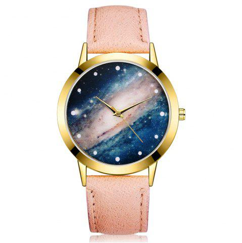 Trendy GAIETY G374 Women Leather Strap Starry Sky Face Quartz Watch