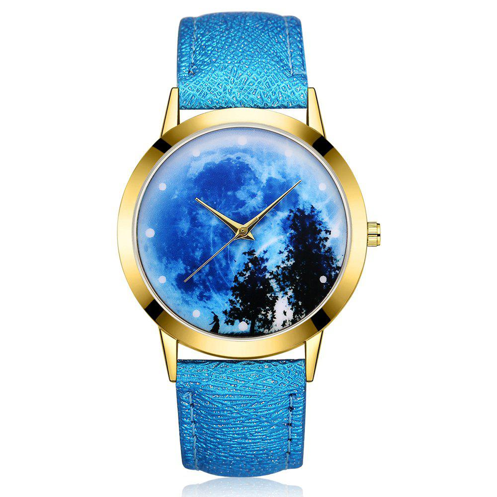 Outfits GAIETY G373 Women's Sky Face Leather Band Dress Watch