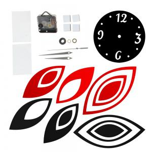 Acrylic Mirror Sticker Set Lotus Shape Wall Clock -