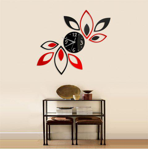 Affordable Acrylic Mirror Sticker Set Lotus Shape Wall Clock