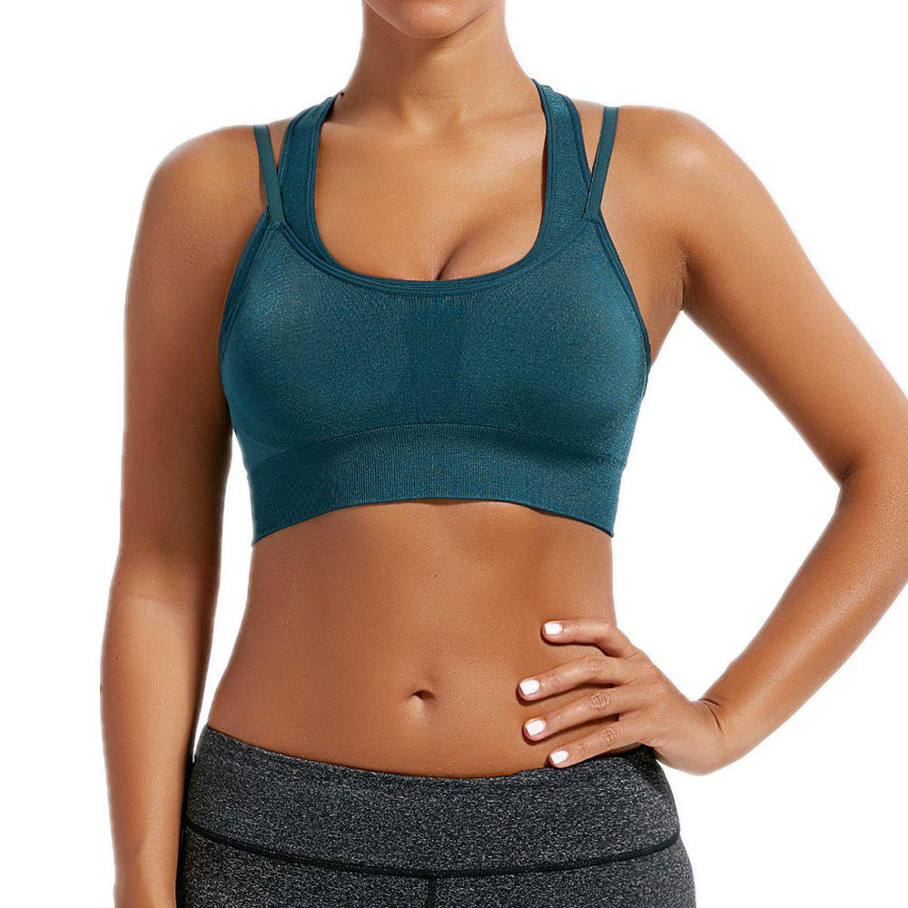 Discount Women Fitness Crop Top Running Underwear High Shockproof  Yoga Bras
