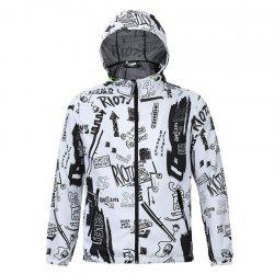Fashion Casual Men's Fashion Trend 3D Printed Loose Lovers Hooded Coat -
