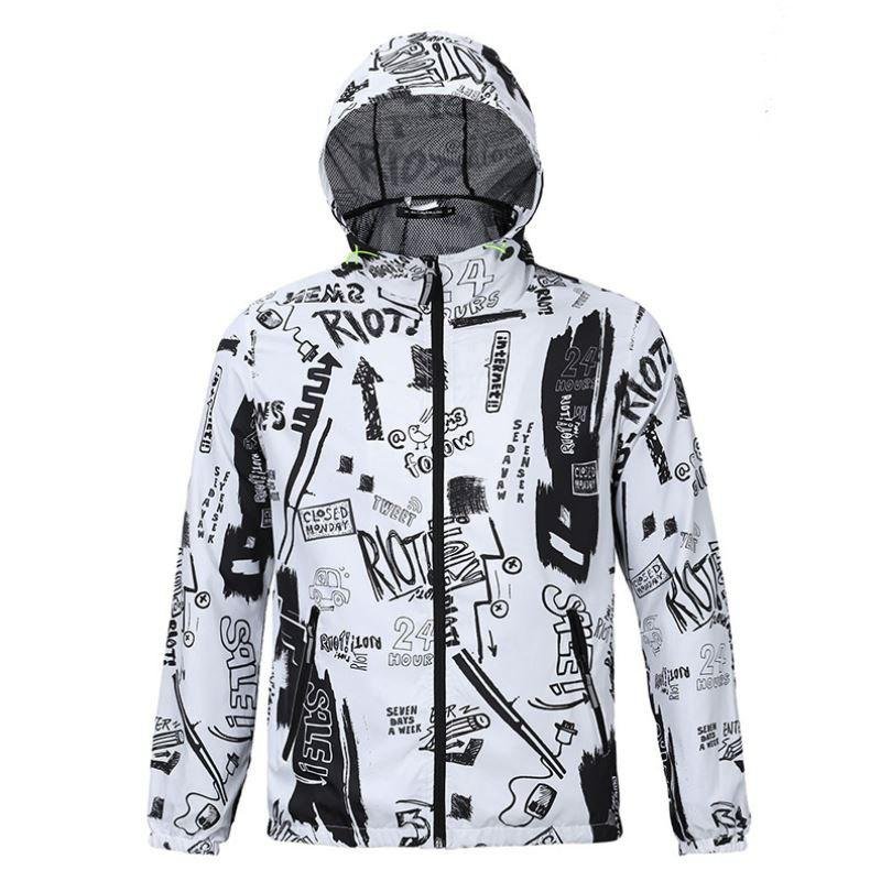 Trendy Fashion Casual Men's Fashion Trend 3D Printed Loose Lovers Hooded Coat