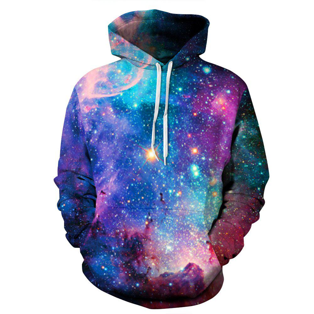 Chic Digital 3D Printing Star Hoodie Couple Baseball Uniform Large Size Hooded for Men