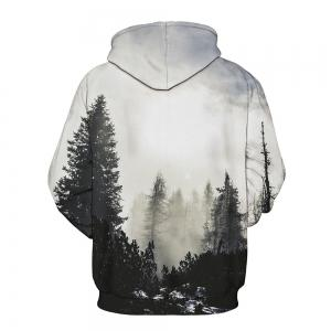 3D Digital Print with Pocket Large Size Baseball Couple Hoodie -
