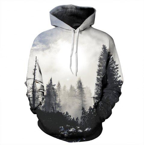 Trendy 3D Digital Print with Pocket Large Size Baseball Couple Hoodie