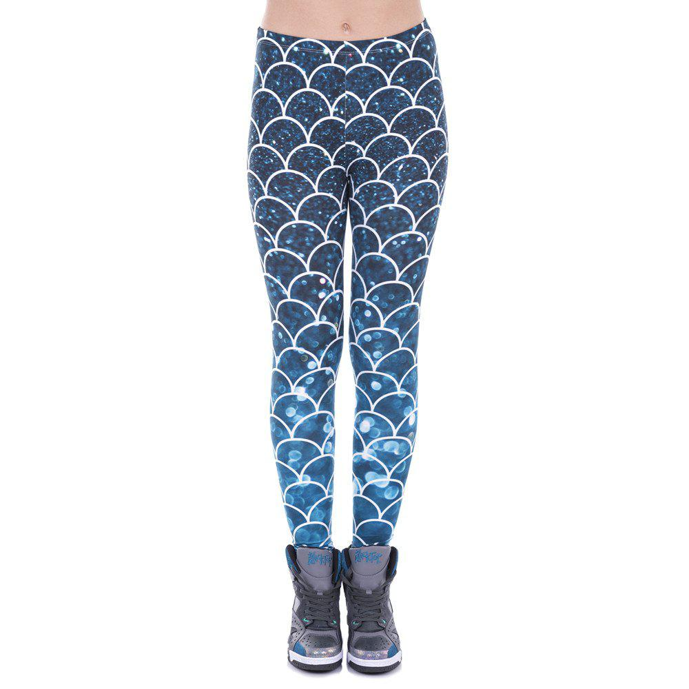 Leggings de mode femmes Leggings pantalons de yoga imprimé paillettes