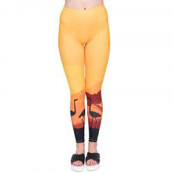 Women Legging Orange 3d Printing Fashion Cozy Leggings  Yoga Pants -