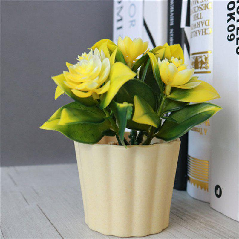 Store New Arrival Mini Round Simulation Plants Flowers Vase Small Bonsai Pot Artificial Plants Flowerpots Indoor