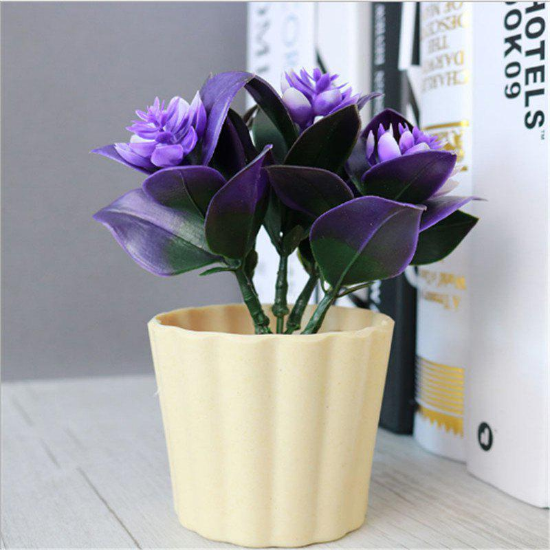 New New Arrival Mini Round Simulation Plants Flowers Vase Small Bonsai Pot Artificial Plants Flowerpots Indoor