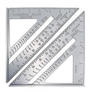 7inch Alloy Speed Square Protractor Miter Framing Measurement Ruler For Carpenter -