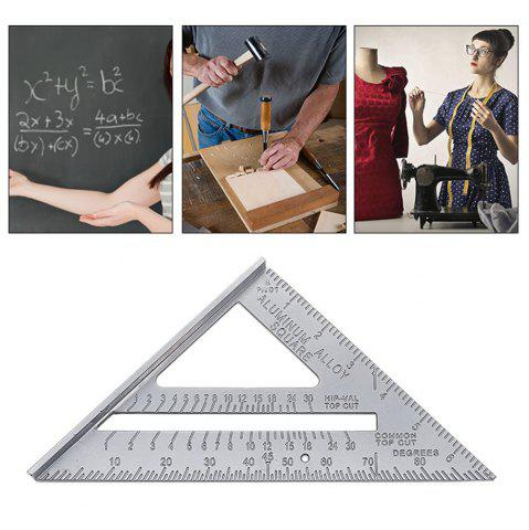 New 7inch Alloy Speed Square Protractor Miter Framing Measurement Ruler For Carpenter