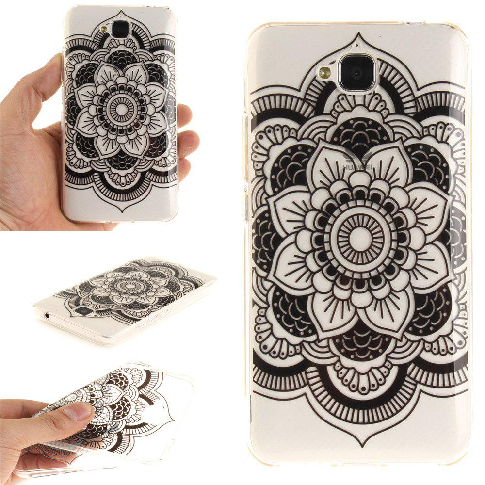 Buy Black Sunflower Soft Clear IMD TPU Phone Casing Mobile Smartphone Cover Shell Case for Huawei Enjoy 5