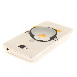 Cartoon Penguin Soft Clear IMD TPU Phone Casing Mobile Smartphone Cover Shell Case for Huawei Enjoy 5 -