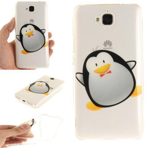 Latest Cartoon Penguin Soft Clear IMD TPU Phone Casing Mobile Smartphone Cover Shell Case for Huawei Enjoy 5