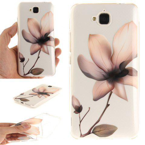 Hot Magnolia Soft Clear IMD TPU Phone Casing Mobile Smartphone Cover Shell Case for Huawei Enjoy 5