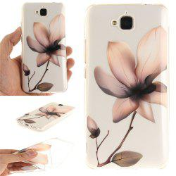 Magnolia Soft Clear IMD TPU Phone Casing Mobile Smartphone Cover Shell Case for Huawei Enjoy 5 -