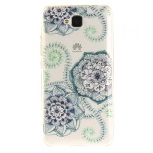Blue Green Dream Flower Soft Clear IMD TPU Phone Casing Mobile Smartphone Cover Shell Case for Huawei Enjoy 5 -