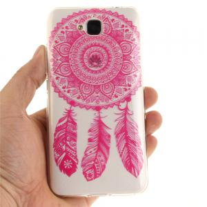 Rose Bell Soft Clear IMD TPU Phone Casing Mobile Smartphone Cover Shell Case for Huawei Enjoy 5 -