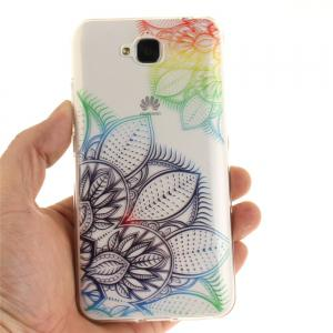 Fantasy Flowers Soft Clear IMD TPU Phone Casing Mobile Smartphone Cover Shell Case for Huawei Enjoy 5 -