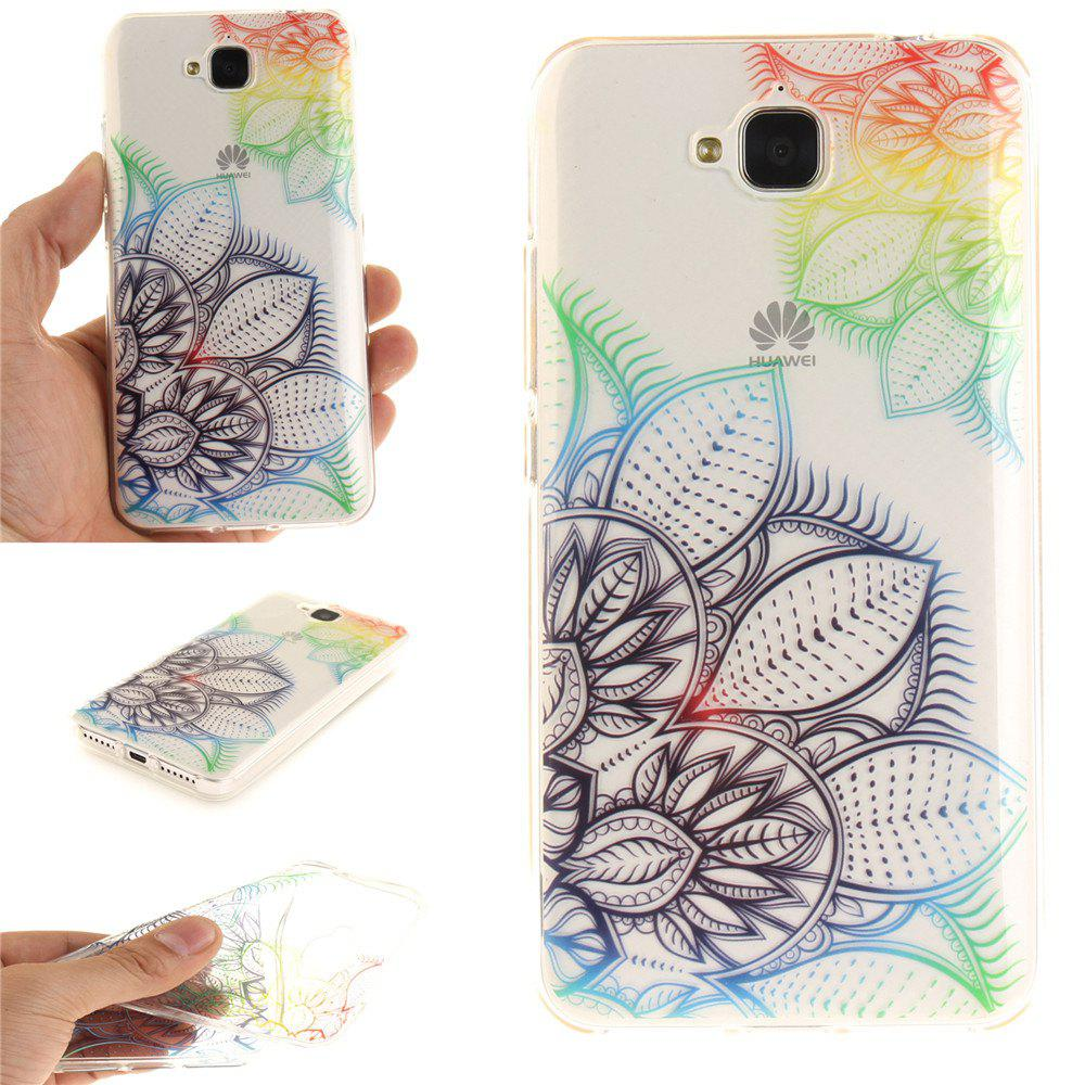 Latest Fantasy Flowers Soft Clear IMD TPU Phone Casing Mobile Smartphone Cover Shell Case for Huawei Enjoy 5