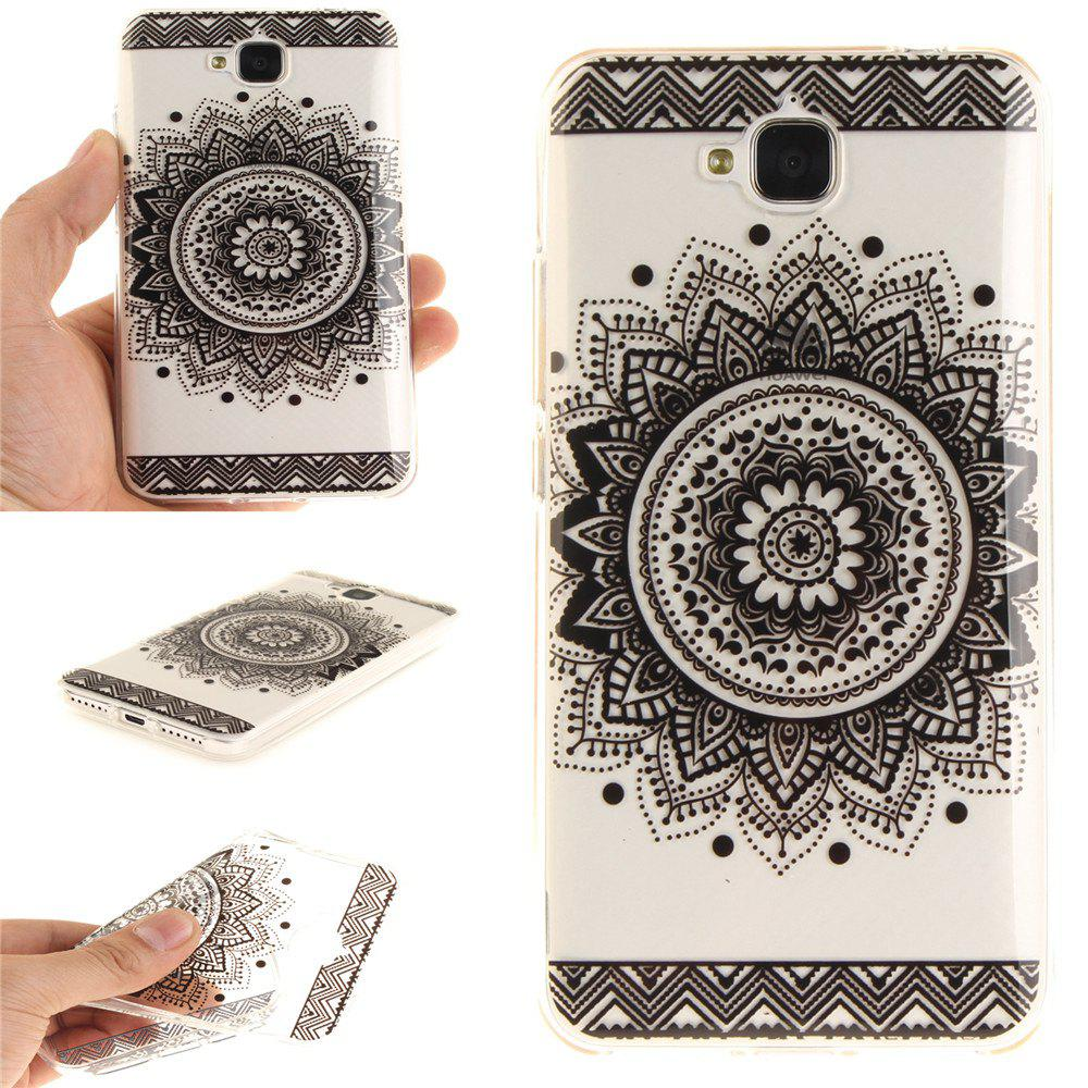 Outfits Black Datura Soft Clear IMD TPU Phone Casing Mobile Smartphone Cover Shell Case for Huawei Enjoy 5