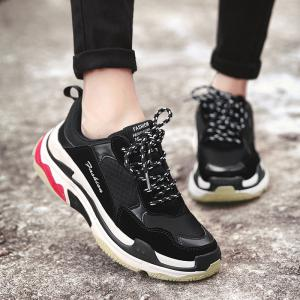 Men Casual Trend for Fashion Lace Up Outdoor Hiking Flat Type Winter Warm Shoes -