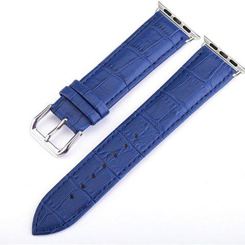 Online Crocodile Pattern Genuine Leather Strap for 38mm iWatch Series 3/2/1 Stainless Steel Clasp and Solid Connector