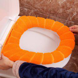 The sculpt of the warm set of pumpkin with the thickening seat  Knitted toilet seat cushion -