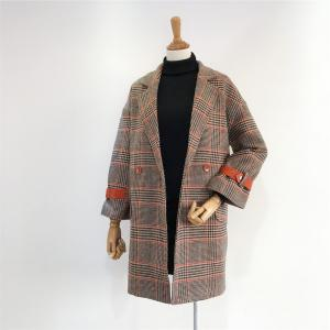 New Winter  Vintage Leather Buckle  Woolen Overcoat -